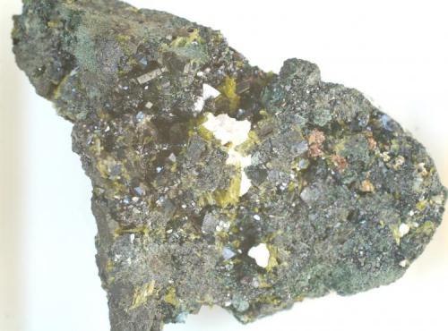 Allanita - Mina Nueva Vizcaya, Burguillos del Cerro, Badajoz, Extremadura, España Medidas: 6,5 x 5,5 x 2,8 cms (Autor: Joan Martinez Bruguera)