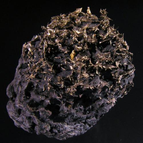 Dyscrasita s/Allemontita. Pribram, Bohenmia, Rep. Checa. 4x3,9x3,2 cm. Col. y foto Nacho Gaspar. (Autor: Nacho)