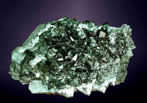 Marcasita Vintirov, Karlovy Vary (distr.), Karlovarský (región), República Checa. Agregado flotante de cristales tabulares (ejemplar de 1981). 7,0 x 4,8 x 3,0 cm. (Autor: Carles Curto)
