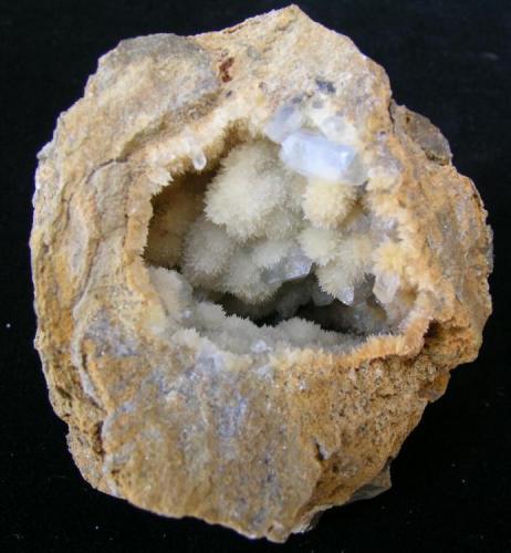 Celestina en Geoda de Calcita Monnegre - Muchamiel - Alicante - España 80 x 70 mm (Autor: trencapedres)