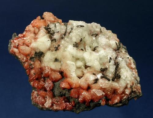 Copper on Calcite included with Cuprite Czar Mine, Warren District, Bisbee, Cochise County, Arizona, USA 73 x 60 x 15 mm (Author: GneissWare)