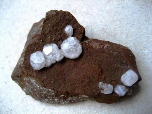 Analcime Duingen Clay Pit, Alfeld, Lower Saxony, Germany Specimen width 50 mm (Author: Tobi)