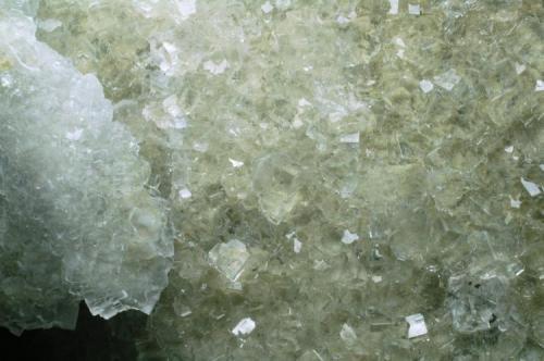 Fluorita Mina Xauxa - Gualba de dalt - Montseny - Vallès Oriental - Barcelona - Catalunya - España 185 x 120 x 40 mm Cara A detalle (Autor: Joan Martinez Bruguera)