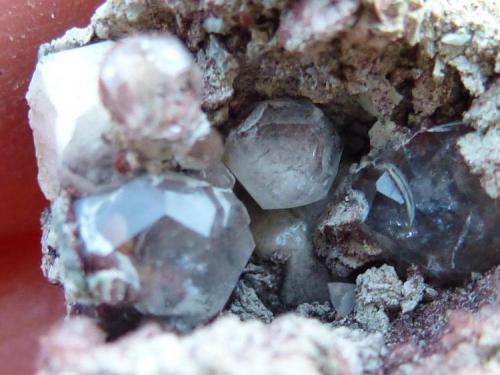 Analcima Mina Gilico, Baños de Gilico/Calasparra, Murcia, España  Otras Analcimas de la misma pieza (Autor: javier ruiz martin)