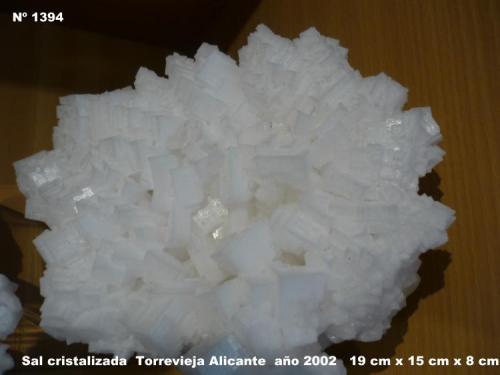 Sal cristalizada Torrevieja-Alicante-Comunidad de Valencia-España 19 cm x 15 cm x 8 cm (Autor: Tomas Ruiz de Arbulo Saez)