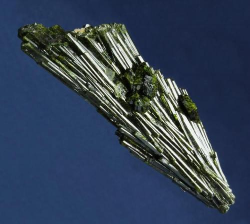 Epidote  Julie (Lola) claim, Pamlico District, near Hawthorne, Mineral County, Nevada, USA  91 x 32 x 25 mm  another view showing the distinct crystals. (Author: GneissWare)
