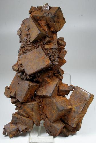 Limonita pseudomórfica de pirita Llanos de Arenalejos, Carratraca, Málaga, España 13x9 cm. Col. & Fot. Juan Hernandez. Intercambiada en Octubre de 2011 (Traded in October of 2011). (Autor: supertxango)