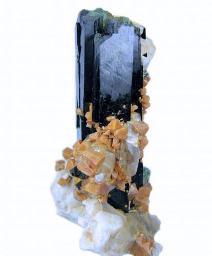 Aegirine, zircon, orthoclase, quartz Mount Malosa, Zomba District, Malawi 80 mm x 72 mm x 38 mm (Author: Carles Millan)