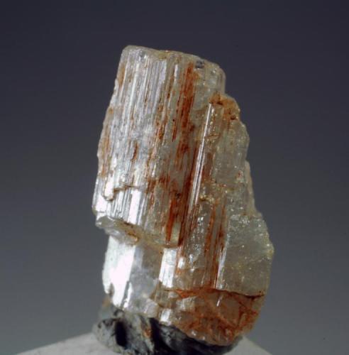 Apatito Mina San José - Cáceres - Extremadura - España 15 x 10 x 9 mm Es un cristal de Apatito recolectado en el año 2007. Pieza intercambiada en el 2012. Colección y Fotografía de Joan Martinez Bruguera (Autor: Joan Martinez Bruguera)