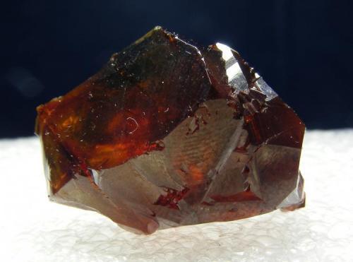 Blenda acaramelada Mina Las Mánforas, Áliva, Camaleño, Cantabria, España 3 cm Precioso cristal de la tercera planta (Autor: yowanni)