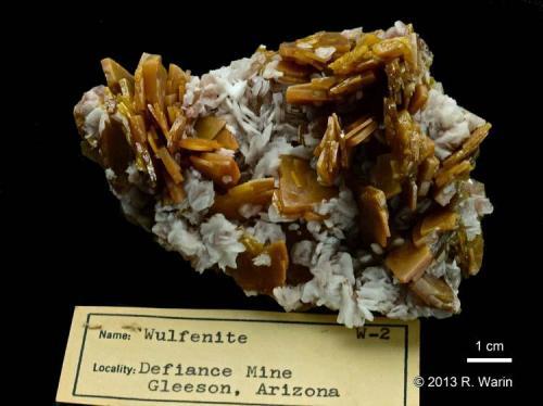 Wulfenite Defiance Mine, Gleeson, Arizona, USA Old piece. (Author: Roger Warin)
