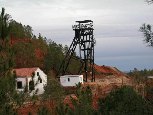 "old shaft in Peña del Hierro (Nerva, Huelva, Spain). The origin of the famous river Tinto is in the vicinity...All this zone is famous because the Astrobiology work performed here. The zone has been considered a ""Mars analog"" on Earth and the study of extremophile organisms received a lot of attention here. (Author: Cesar M. Salvan)"