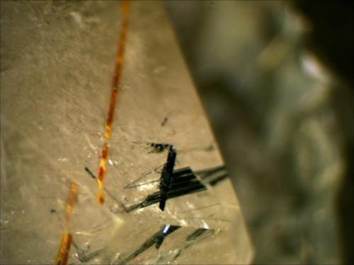 Quartz (smoky), Astrophyllite and Aegirine Zhagi Mountain, Pakistan (Author: Mark Ost)