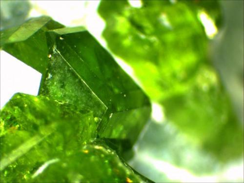 Garnet Group, Andradite, Demantoid Jeffery Quarry, BGS Asbestos, Canada 12mm  (Author: Mark Ost)