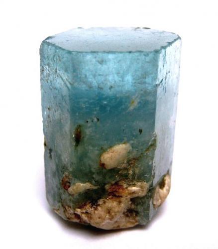 Beryl (var. aquamarine) Gilgit-Baltistan (Northern Areas), Pakistan Specimen height 3 cm (Author: Tobi)