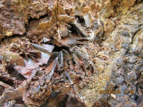 Barita<br />Mina Sarita, Bezas, Comarca Sierra de Albarracín, Teruel, Aragón, España<br />Cristal mayor 2 cm.<br /> (Autor: Miguel Ángel Martinez)