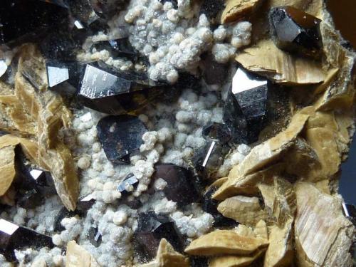 Casiterita con Siderita Mina Viloco, Araca, La Paz, Bolivia 6 x 4 cm.  Detalle (Autor: javier ruiz martin)