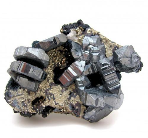 Bournonite, pyrite Viboras Mine, Machacamarca (Colavi District), Cornelio Saavedra, Potosí, Bolivia 95 mm x 74 mm x 46 mm (Author: Carles Millan)