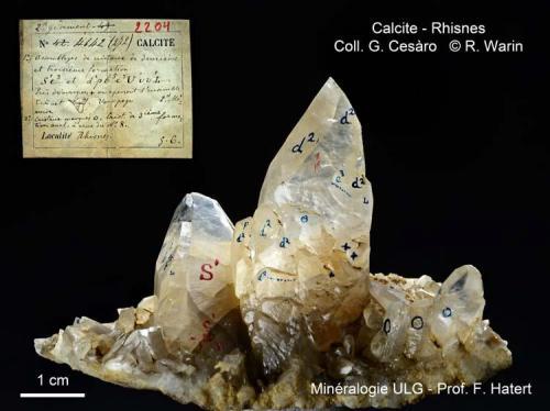 Calcite Rhisnes, Namur Prov., Belgium 3 generations (Author: Roger Warin)