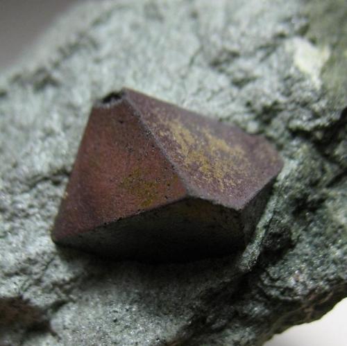 Magnetita Diamantina, Jequitinhonha Valley, Minas Gerais, Brasil 7 x 5,5 x 3 cm Detalle del cristal (Autor: Antonio Alcaide)