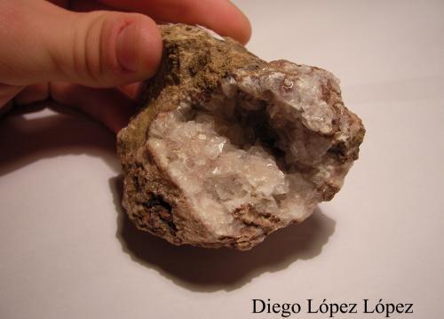 Calcita Mina San Salvador, Aldea Moret, Cáceres, Extremadura, España largo 7 cm , alto 5 cm , ancho 5 cm (Autor: DiegoToledo)