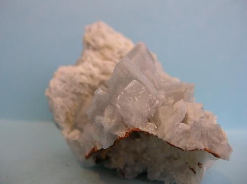 Baritina Grupo Minero San Jorge, Portman, La Unión, Sierra de Cartagena, Murcia, España 7 x 5,5 cm. Otro ángulo. (Autor: Pedro Conesa)