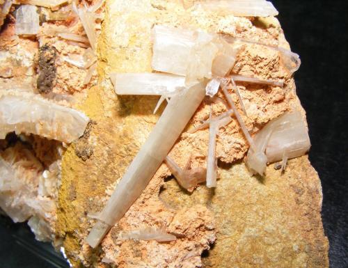 Cerusita<br />Mina Luis, filón Norte, Minas del General, Cabezarrubias del Puerto, Ciudad Real, Castilla-La Mancha, España<br />14cm Cristal mayor 3.5cm<br /> (Autor: yowanni)