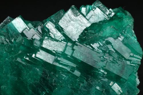 Beryl (var. emerald)<br />Coscuez mining district, Municipio San Pablo de Borbur, Western Emerald Belt, Boyacá Department, Colombia<br />Detail - FOV=3cm<br /> (Author: Fiebre Verde)