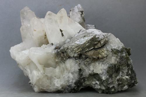 Arsenopirita<br />Minas El Valle-Boinás, El Valle, Begega, Belmonte de Miranda, Asturias, Principado de Asturias, España<br />90x78 mm<br /> (Autor: Juan Espino)