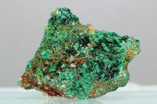Brochantita<br />Bou Bekker, Distrito Touissit, Provincia Jerada, Región Oriental, Marruecos<br />30x22 mm<br /> (Autor: Juan Espino)