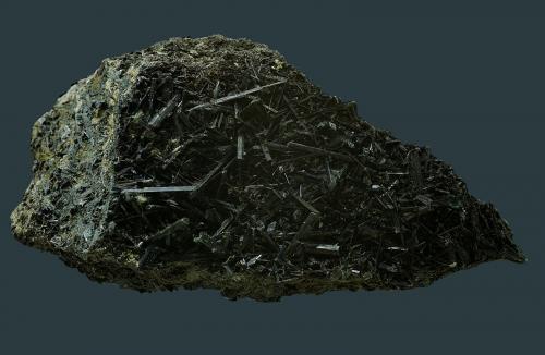 Actinolita<br />Cantera Minera I, Cerro de los Serranos, Lebrija, Comarca Bajo Guadalquivir, Sevilla, Andalucía, España<br />76 x 41 mm<br /> (Autor: Antonio Carmona)