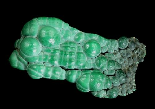 Malachite<br />Apex Mine, Jarvis Peak, Tutsagubet District, Washington County, Utah, USA<br />72 x 40 x 18 mm<br /> (Author: GneissWare)