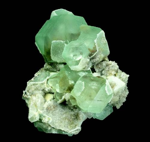 Fluorite with Quartz<br />Orange river pegmatites, Kakamas, ZF Mgcawu District, Northern Cape Province, South Africa<br />108 x 100 x 76 mm<br /> (Author: GneissWare)