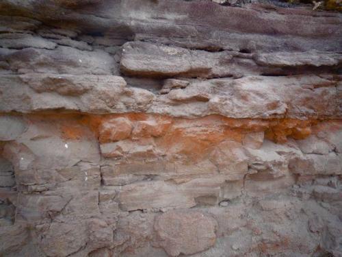 Argilitas ricas en hierro La Isleta, Gran Canaria, España ancho de imagen 3 metros (Autor: María Jesús M.)