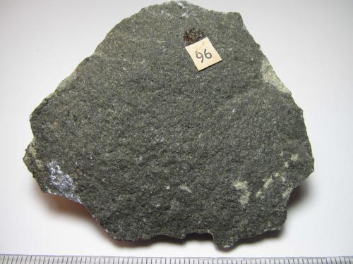 Espilita Conwy, Gales, Reino Unido 6'5 x 5'5 cm. Un basalto (s. l.) alterado de un afloramiento de lavas almohadilladas. (Autor: prcantos)