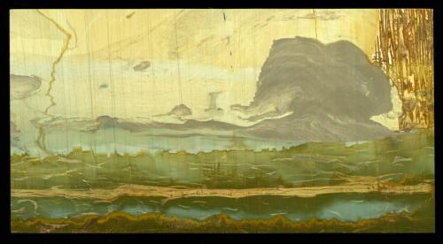 Caliza (variedad paesina)<br />Valdarno (Val d'Arno), Provincia Arezzo, Toscana, Italia<br />14 cm<br /> (Autor: marco campos-venuti)