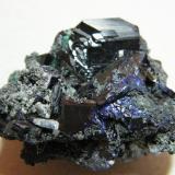 Azurite<br />Tsumeb Mine, Tsumeb, Otjikoto Region, Namibia<br />50x40x30mm<br /> (Author: Heimo Hellwig)