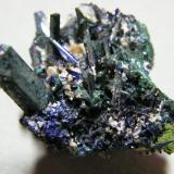 Azurite/Malachite<br />Tsumeb Mine, Tsumeb, Otjikoto Region, Namibia<br />40x35x25mm<br /> (Author: Heimo Hellwig)