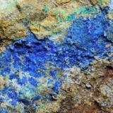 Azurita<br />Mines de les Olles, Alforja, Comarca Baix Camp, Tarragona, Catalunya, España<br />5 x 4 x 3 cm<br /> (Autor: karbu8)