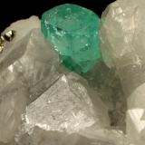 Beryl (Var. Emerald), Calcite, Pyrite<br />Muzo mining district, La Pava Mine, Quípama, Municipio Muzo, Western Emerald Belt, Boyacá Department, Colombia<br />85x62x64mm, xl=8x9mm<br /> (Author: Fiebre Verde)