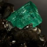Beryl (variety emerald), Calcite, Pyrite<br />Coscuez mining district, Municipio San Pablo de Borbur, Western Emerald Belt, Boyacá Department, Colombia<br />78x53x78mm, xls= 11x9mm & 15x12mm<br /> (Author: Fiebre Verde)