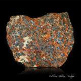 ZincitaSterling Hill, Ogdensburg, Distrito minero Franklin, Condado Sussex, New Jersey, USA74 x 58 x 23 mm. (Autor: Rafael Galiana)