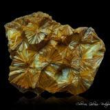 Pirofilita<br />Mina Hard Luck, Bosque Nacional Stanislaus, Briceburg, East Belt, Condado Mariposa, California, USA<br />85 x 73 x 44 mm.<br /> (Autor: Rafael Galiana)