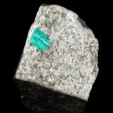 Beryl (variety emerald), Albite (variety cleavelandite), Pyrite<br />Chivor mining district, Municipio Chivor, Eastern Emerald Belt, Boyacá Department, Colombia<br />43x35x41mm, xl=10mm<br /> (Author: Fiebre Verde)