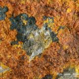 Pascoita<br />Mina Sunday, Distrito Slick Rock, Condado San Miguel, Colorado, USA<br />Encuadre de la fotografía 22 mm.<br /> (Autor: Rafael Galiana)