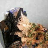 Azurite and Cerussite<br />Tsumeb Mine, Tsumeb, Otjikoto Region, Namibia<br />40x30x30mm<br /> (Author: Heimo Hellwig)
