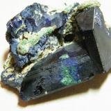 Azurite<br />Tsumeb Mine, Tsumeb, Otjikoto Region, Namibia<br />45x30x30mm<br /> (Author: Heimo Hellwig)
