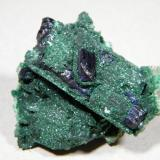 Azurite and Malachite<br />Tsumeb Mine, Tsumeb, Otjikoto Region, Namibia<br />40x40x25mm<br /> (Author: Heimo Hellwig)
