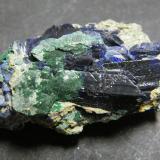 Azurite<br />Tsumeb Mine, Tsumeb, Otjikoto Region, Namibia<br />40x25x20mm<br /> (Author: Heimo Hellwig)