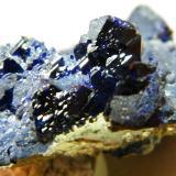 Azurite<br />Tsumeb Mine, Tsumeb, Otjikoto Region, Namibia<br />50x50x20mm<br /> (Author: Heimo Hellwig)